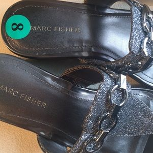 Marc Fisher Shoes - NIB Marc Fisher pewter sandals sz 8